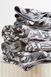 Anthropologie Gracie Jacquard Towel Collection Grey