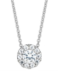 Macy's Diamond Circle Pendant Necklace In 14K White Gold 1 2 Ct. T.W.