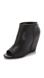 Jeffrey Campbell Jovita Perforated Open Toe Booties Black