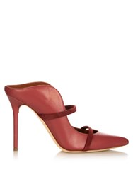 Malone Souliers Maureen Leather Mules Dark Pink