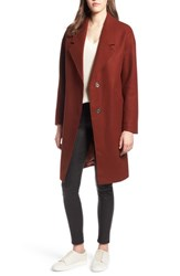 Kendall Kylie Drop Shoulder Midi Coat Cinnamon