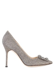 Manolo Blahnik 105Mm Hangisi Notturno Lurex Pumps