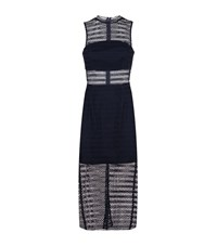 Keepsake All Night Lace Midi Dress Female Blue