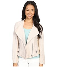 Nic Zoe Petite Sundown Moto Jacket Fawn Mix Women's Coat White