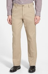 Men's Big And Tall Cutter And Buck 'Beckett' Straight Leg Washed Cotton Pants British Tan