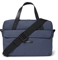 Brooks England Lexington Coated Canvas Briefcase Navy