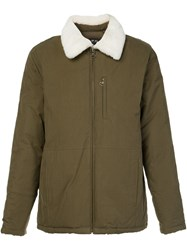 A.P.C. Fur Collar Jacket Green