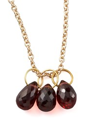 Garnet Teardrop Charm Heather Moore Red