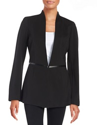 Laundry By Shelli Segal Leatherette Accented Jacket Black