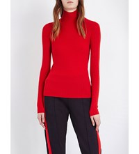 Joseph Turtleneck Ribbed Cashmere Jumper 552 Dark Red