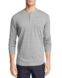Chaser Vintage Knit Long Sleeve Henley Heather Gray