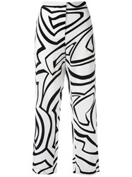 Emilio Pucci Printed Flared Trousers Black