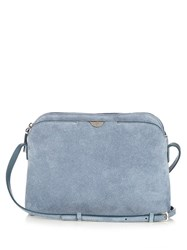 The Row Multi Pouch Suede Cross Body Bag Blue