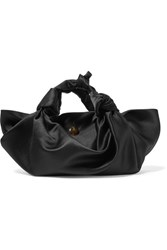 The Row Ascot Knotted Satin Tote Black
