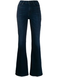 7 For All Mankind Flared Denim Trousers Blue