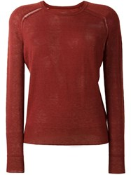 Etoile Isabel Marant A Toile 'Foty' Jumper Pink And Purple