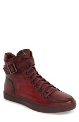 Jump Men's 'Sullivan' High Top Sneaker Burgundy Leather