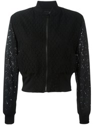 Paul Smith Ps By Sheer Cropped Bomber Jacket Black