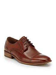 Steve Madden Leather Cap Toe Oxfords Tan Leather