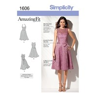 Simplicity Amazing Fit Occasion Dress Sewing Pattern 1606