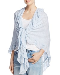 Minnie Rose Ruffle Shawl Sky