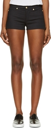Versus Black And Gold Safety Pin Shorts