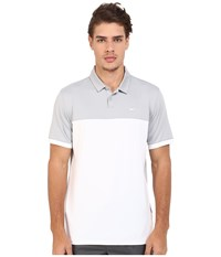 Nike Icon Color Block Polo Wolf Grey White White Men's Short Sleeve Pullover Gray