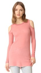 Alice Olivia Wade Cold Shoulder Tunic Dusty Rose