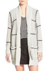 Women's Leith Grid Open Front Long Cardigan