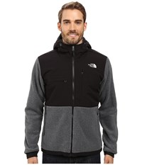 The North Face Denali 2 Hoodie Recycled Charcoal Grey Heather Tnf Black Men's Sweatshirt