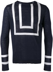 Christian Pellizzari Striped Knitted Sweater Blue
