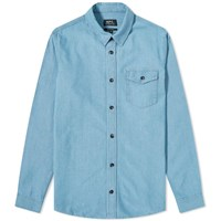 A.P.C. Michael Chambray Shirt Blue