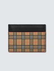 Burberry Check Card Holder Yellow
