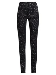 Balenciaga Star Print High Rise Leggings Black