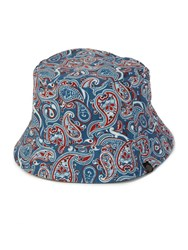 Pretty Green Camley Paisley Reversible Bucket Hat Blue
