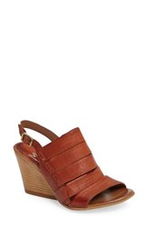 Miz Mooz Women's Kenmare Wedge Sandal Rust Leather