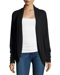 Three Dots Long Sleeve Open Front Cardigan Black