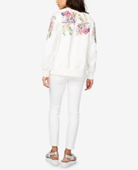 Rachel Roy Embroidered Bomber Jacket Only At Macy's White