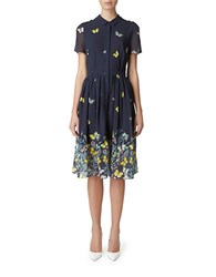 Erin Fetherston Madame Butterfly Shirtdress Navy Multi