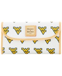 Dooney And Bourke West Virginia Mountaineers Large Continental Clutch White