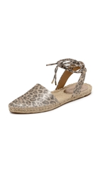 Belle By Sigerson Morrison Mai D'orsay Espadrilles Platino