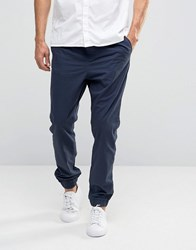 Adpt Cuffed Hem Trousers With Drawstring Waist Iris Navy