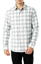 7 Diamonds Sparrow Trim Fit Flannel Shirt Grey White