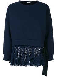 P.A.R.O.S.H. Lace Underlayered Sweatshirt Blue