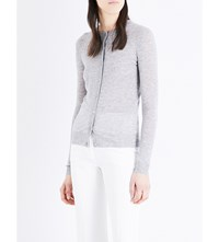Joseph Fitted Cashmere Cardigan 201Grey Chine