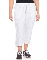 Calvin Klein Performance Plus Cropped Cargo Pants White