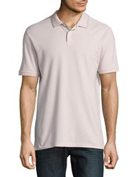 Black Brown Contrast Trimmed Polo Dusty Pink
