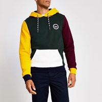 Hype River Island Green Colour Block Hoodie
