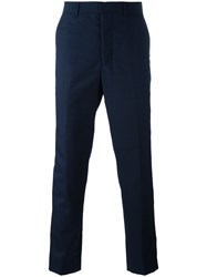 Ami Alexandre Mattiussi Carrot Fit Trousers Blue