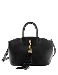 Brian Atwood Haven Leather Satchel Black